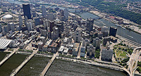 Downtown Pittsburgh Aerial Photographs