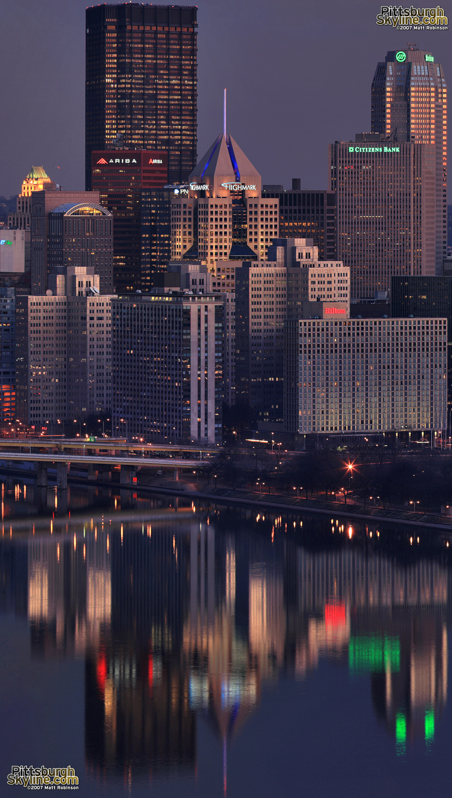 Pittsburgh reflects at the confluence