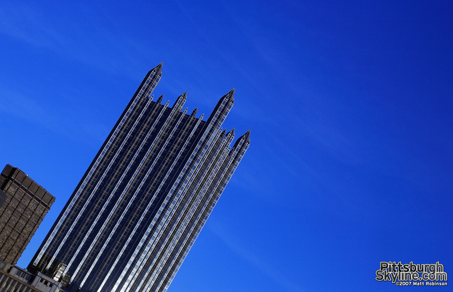 PPG Place rockets into the sky