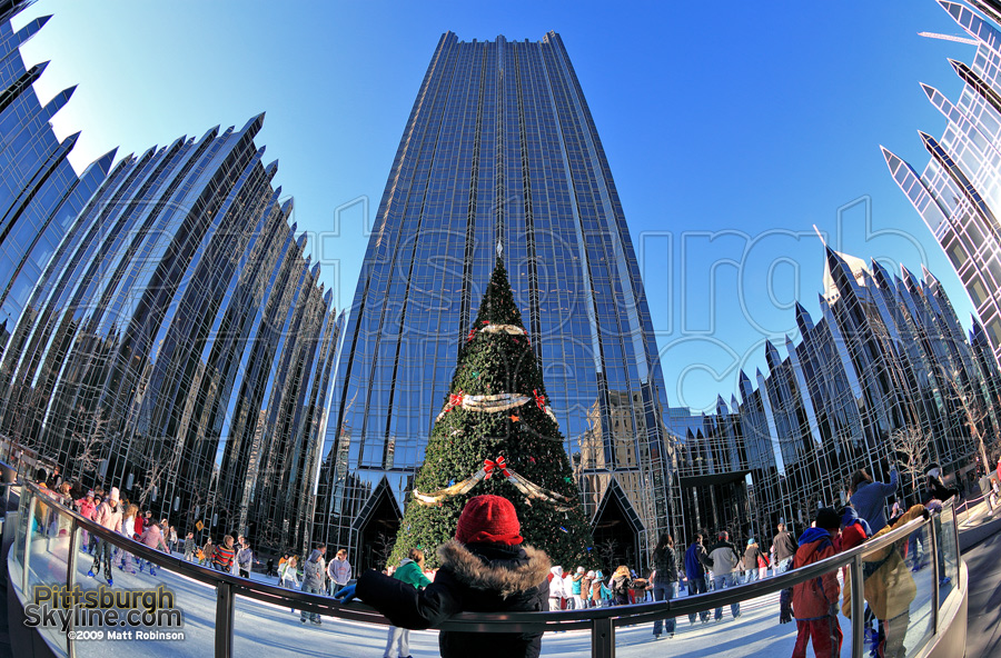 The ice rink at PPG Place