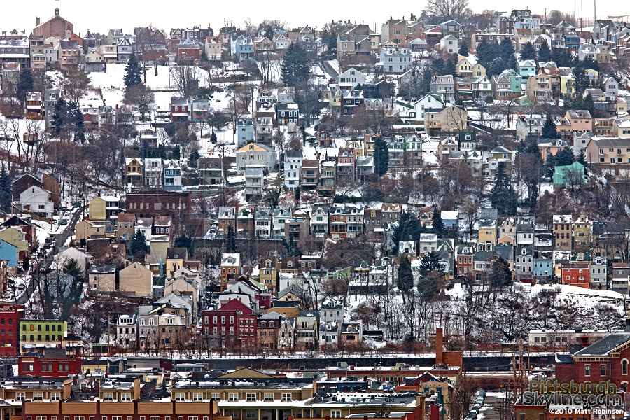 South Side Slopes in Winter - PittsburghSkyline.com - Original ...