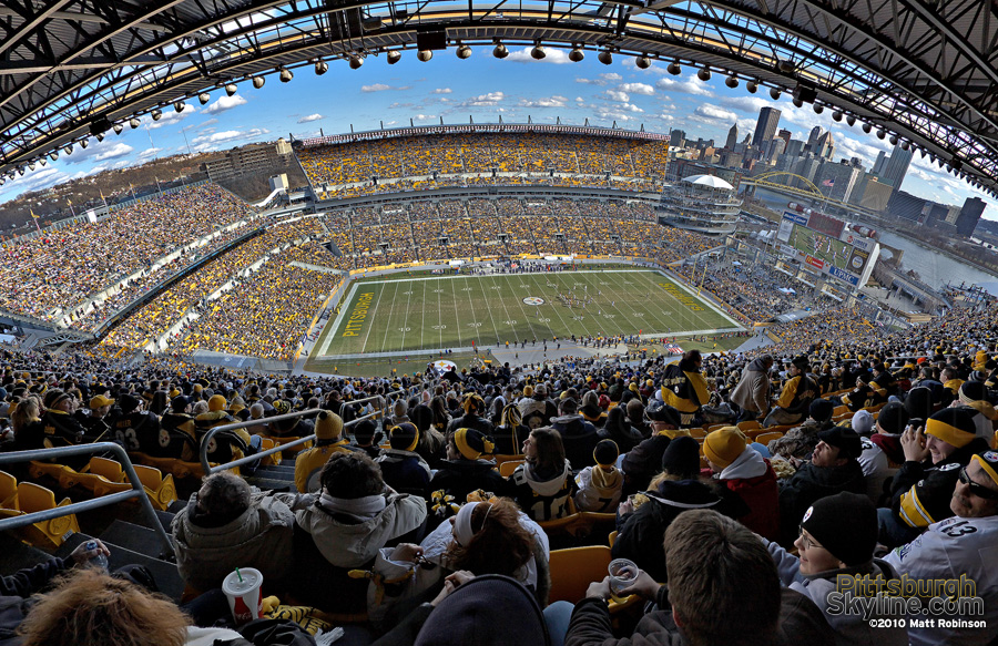 Upper deck view at Heinz Field