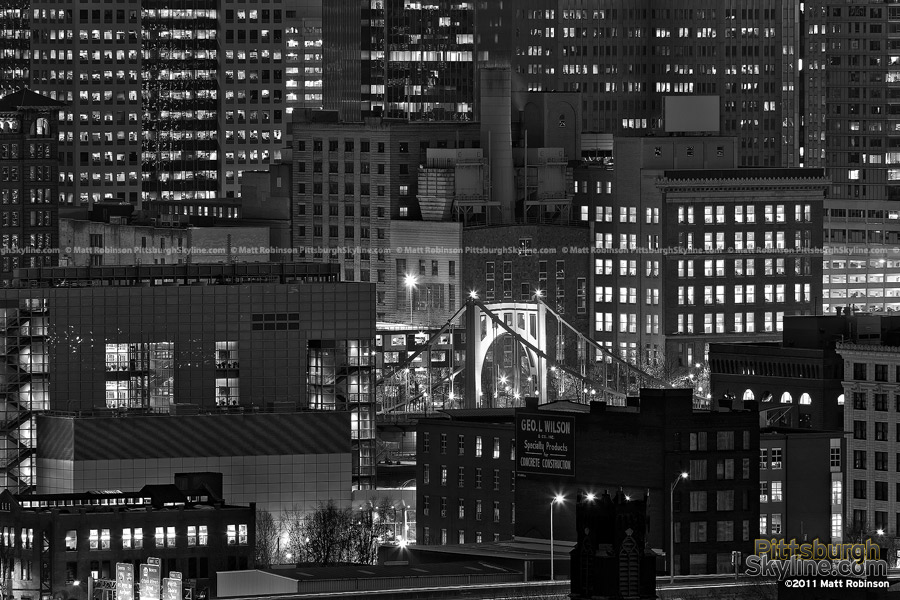 Black and White North Side Pittsburgh