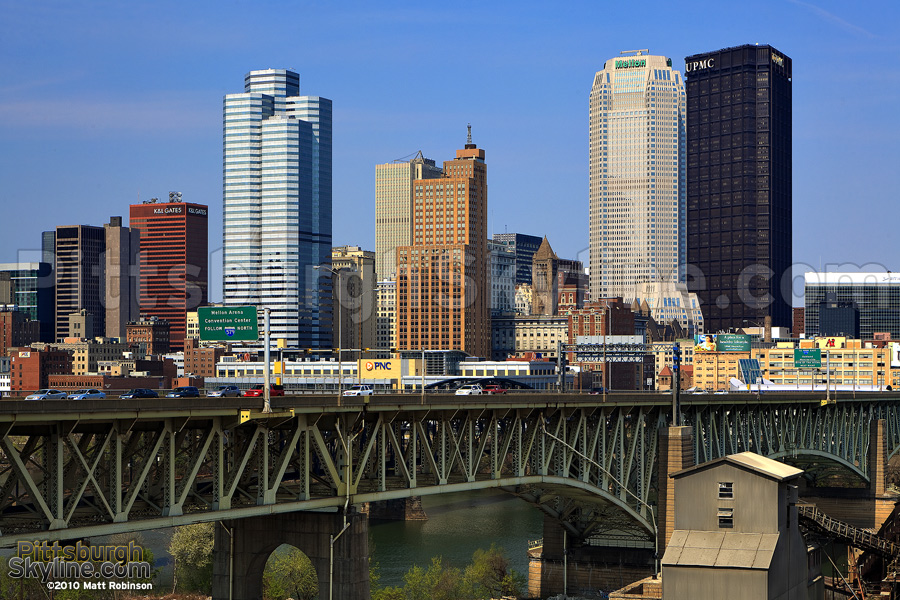 Liberty Bridge and the Downtown Pittsburgh Skyline