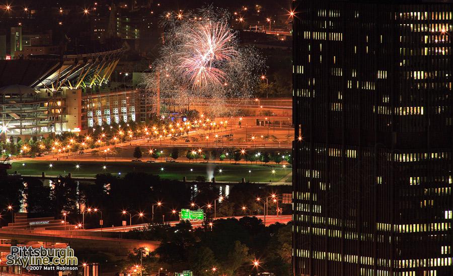 Random fireworks display