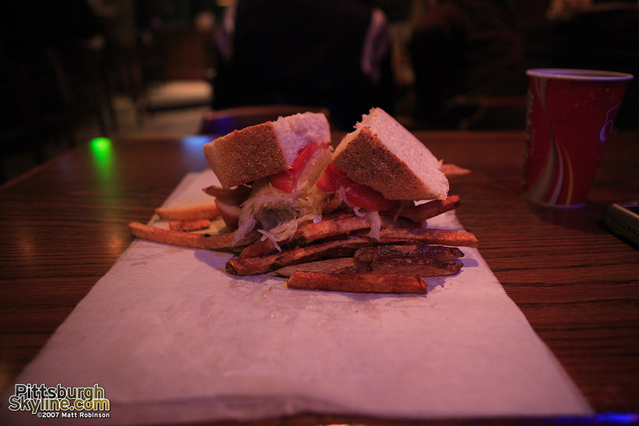 Cheese steak from Primanti Brothers