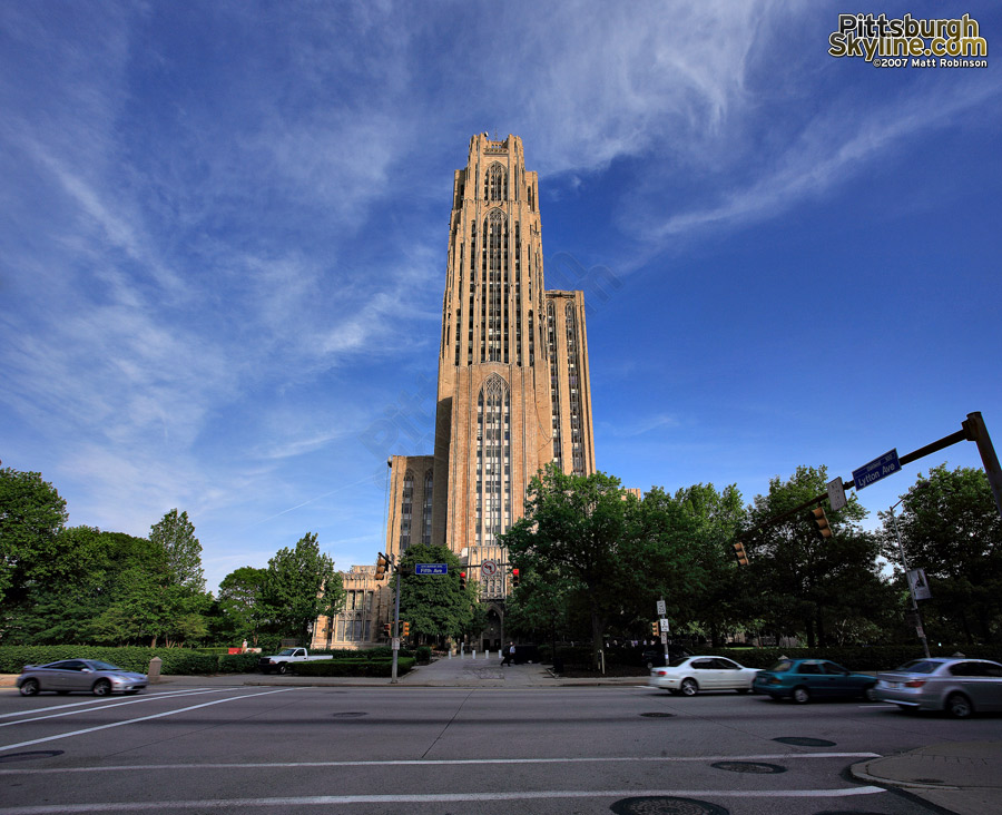 Pitt's Cathedral of Learning, after a bath