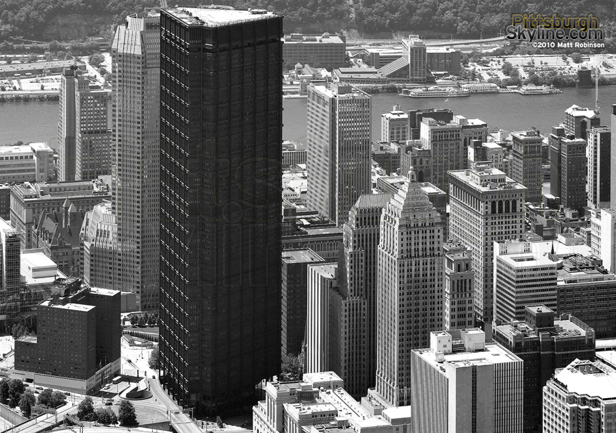Aerial of US Steel Building, Pittsburgh