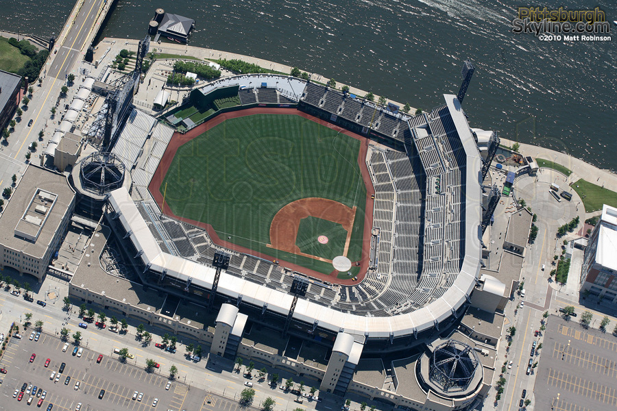High over PNC Park