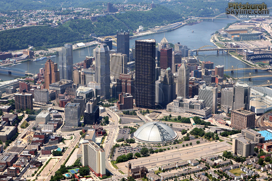 Aerial of Downtown Pittsburgh