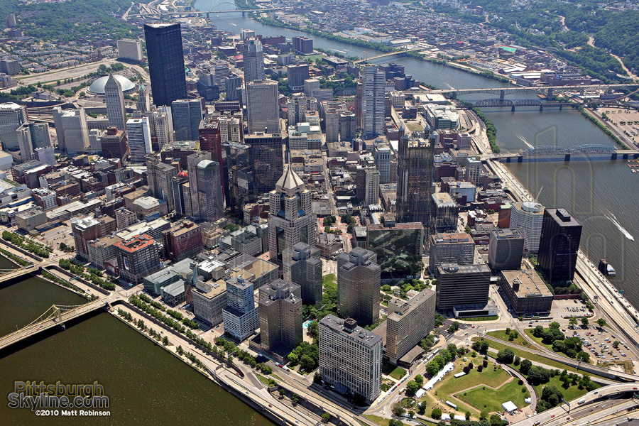 Downtown Pittsburgh Aerial Photographs Pittsburghskyline