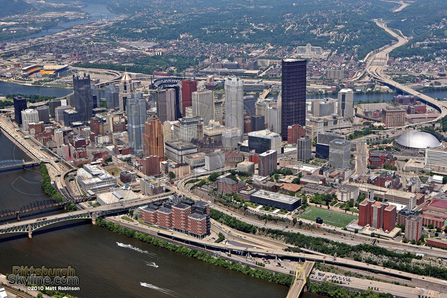 Pittsburgh Aerial from the Southeast