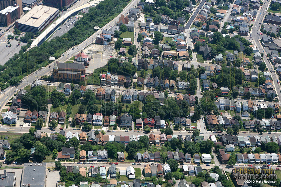 Aerial of the neighborhood of Mt. Washington