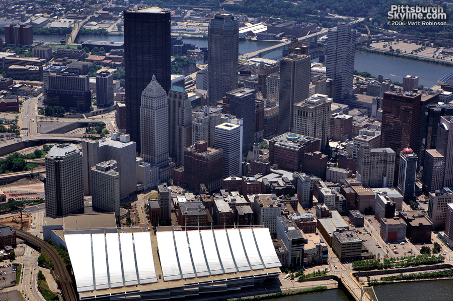 Aerial of David L. Lawrence Convention Center, Pittsburgh