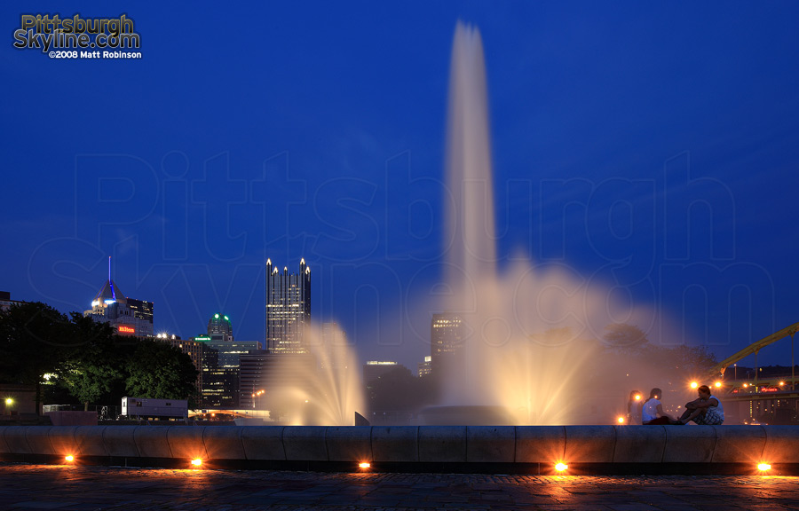 The fountain at the confluence at the Point.
