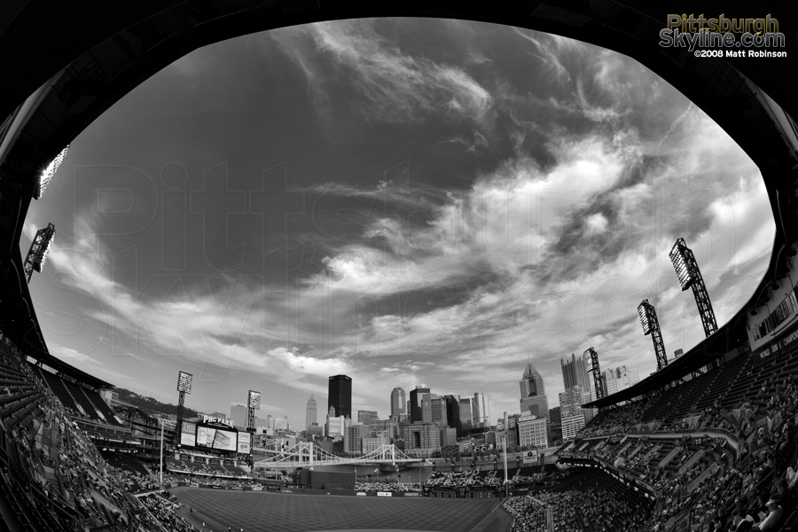 Fisheye to the sky at PNC Park.