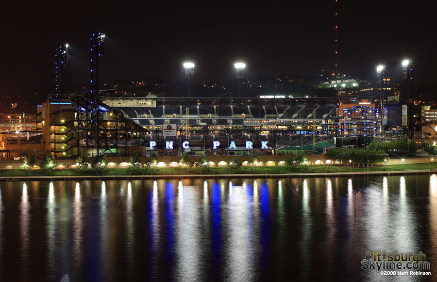 PNC Park after an evening game.