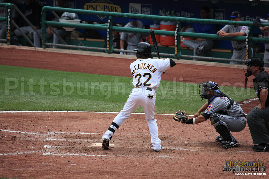 The debut of the newest Pirate, Andrew McCutchen