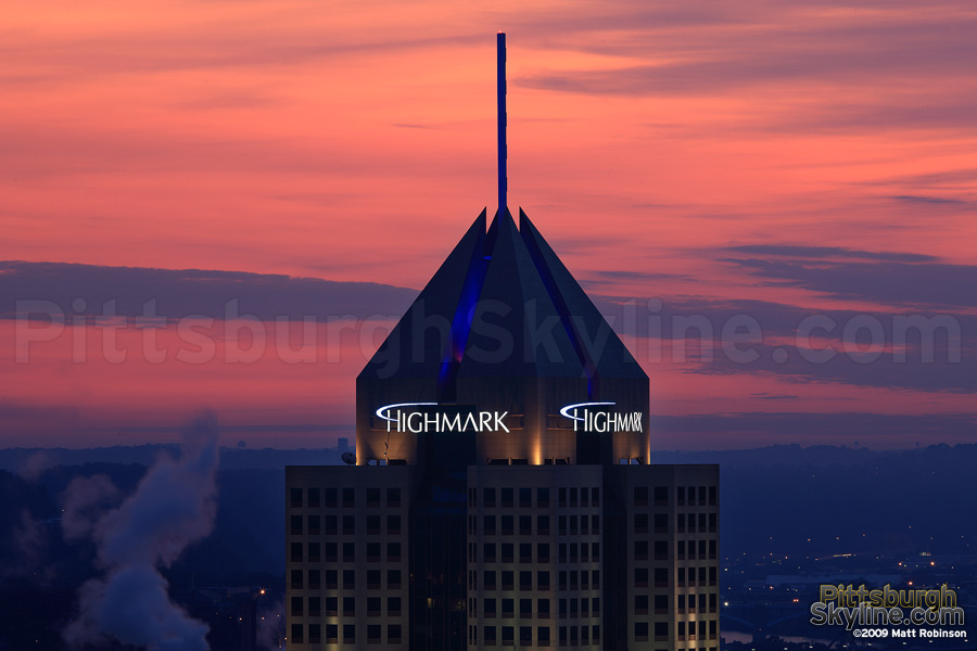 Highmark Building silhouette