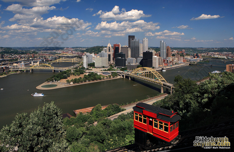 The Duquesne Incline vista.