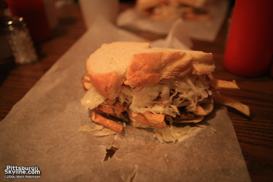Primanti Brothers cheesesteak sandwich