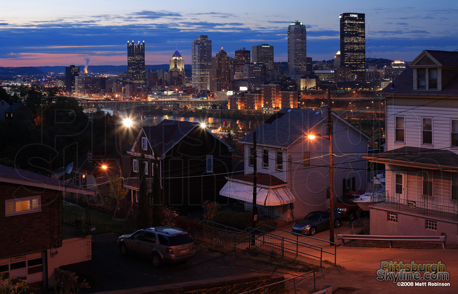 Downtown Pittsburgh from the South Side Slopes.