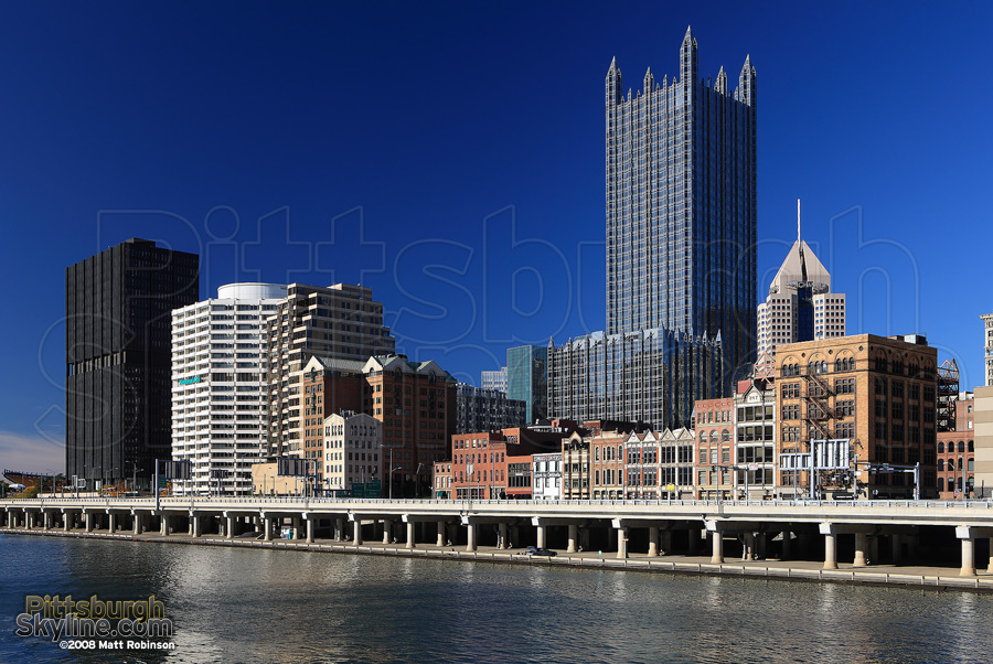 PPG Place and the Mon Wharf.