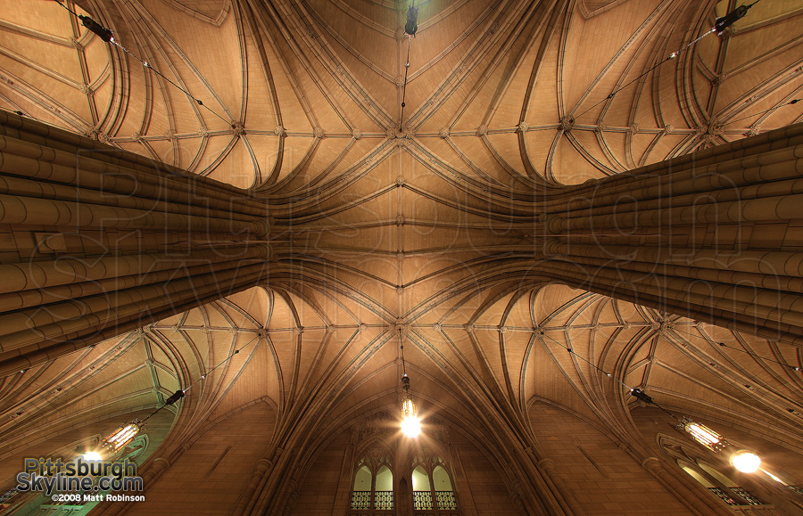 Interior of the Cathedral of Learning.