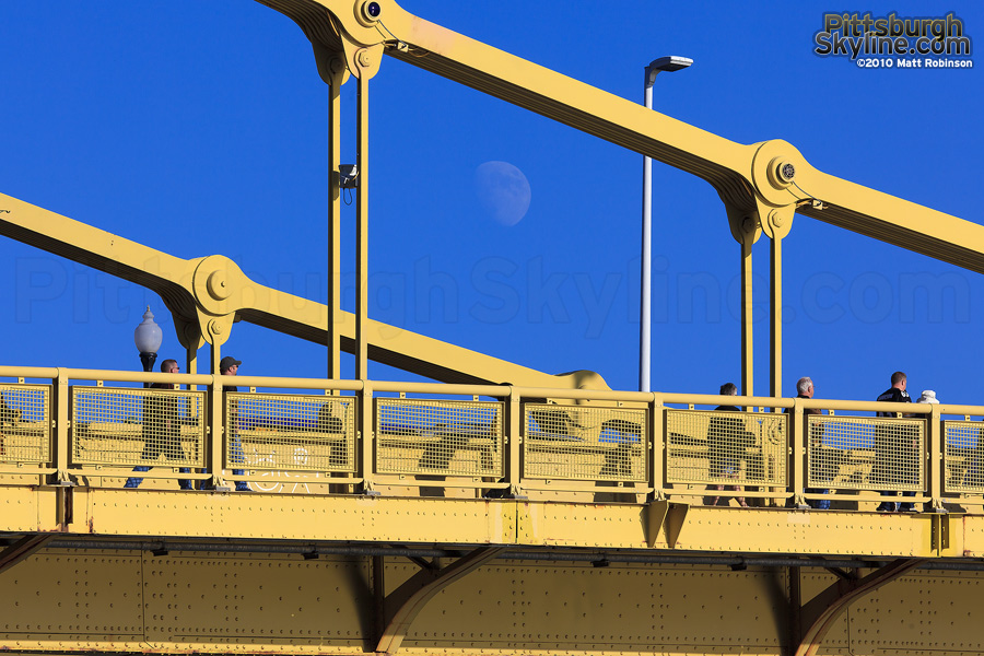 Moonrise over Clemente Bridge