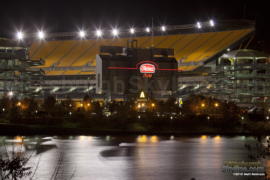 Heinz Field at night
