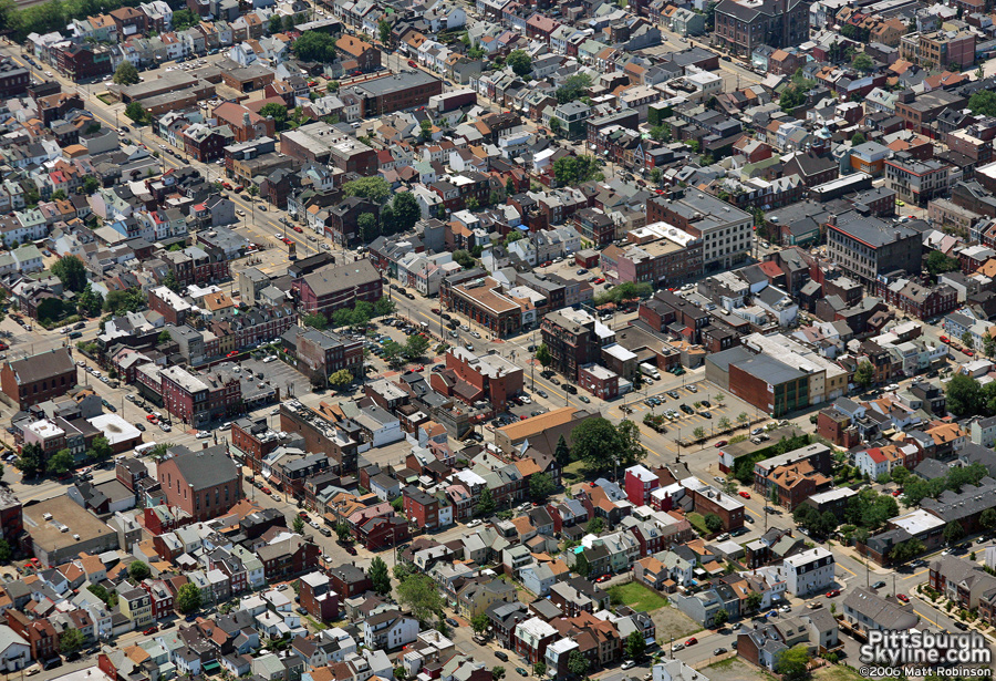 Aerial of the South Side, Pittsburgh