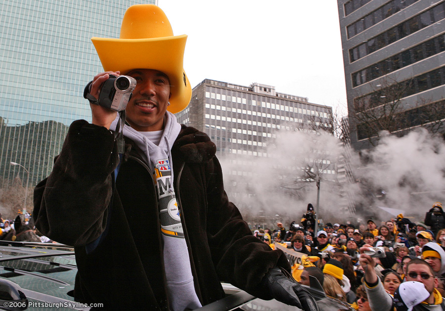 Hines Ward during the Superbowl 40 Parade in Downtown Pittsburgh - 2006