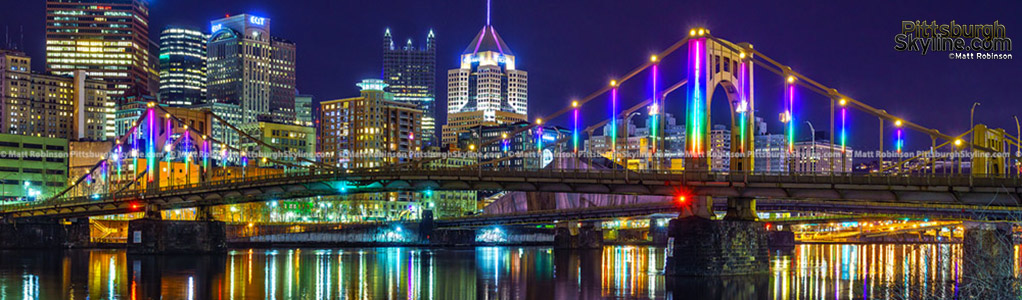 Pittsburgh at night for January 2017
