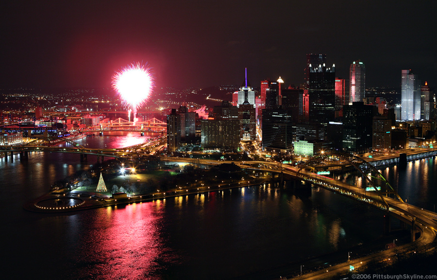 New Years Fireworks - Downtown Pittsburgh