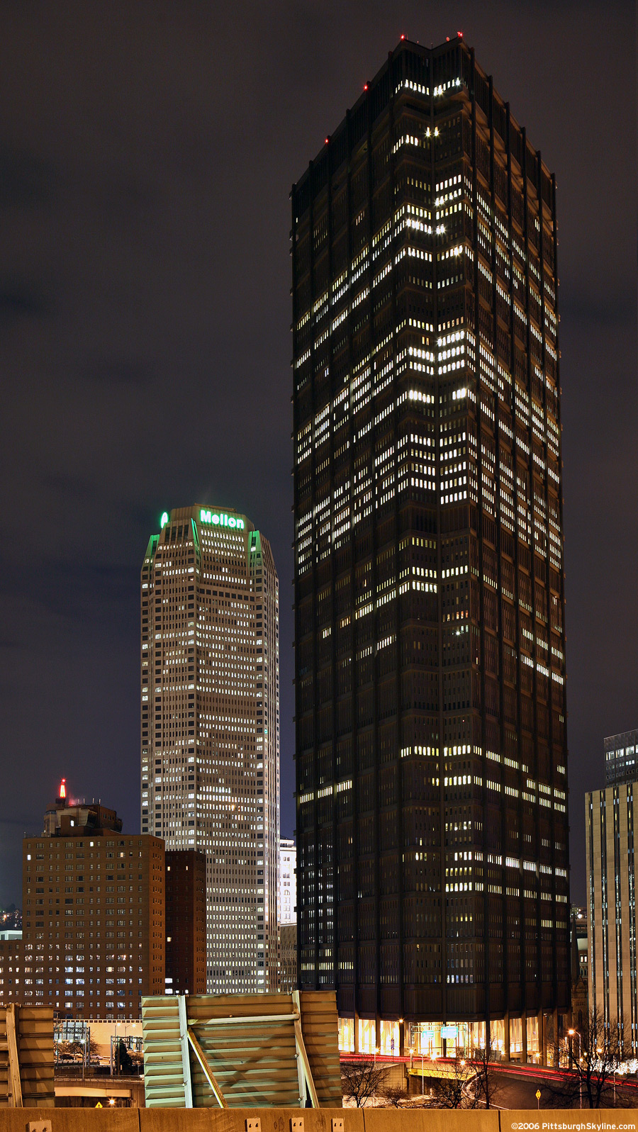 US Steel Tower at night